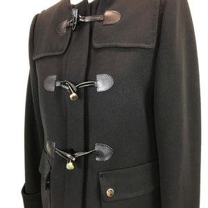 Zara Woman Black Toggle Deep Pocket Coat L